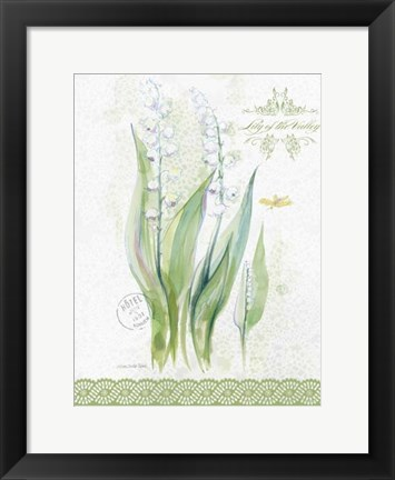 Framed Flower Study on Lace IX Print