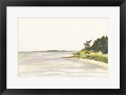 Framed Solitary Coastline I Print