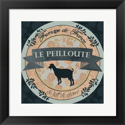 Framed Cheese Label III Print