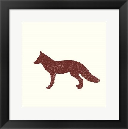 Framed Timber Animals III Print