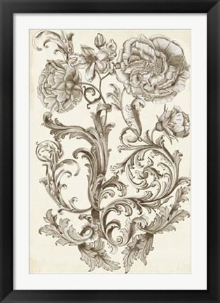 Framed Flora & Filigree I Print