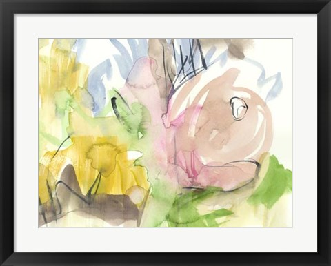 Framed Whimsy in The Garden I Print