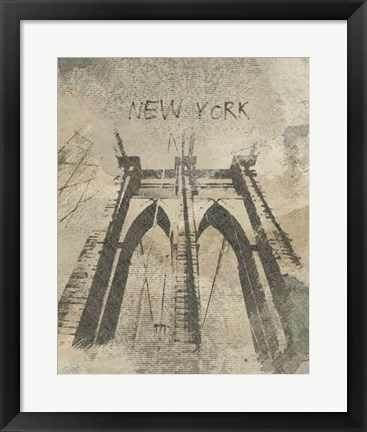 Framed Remembering New York Print