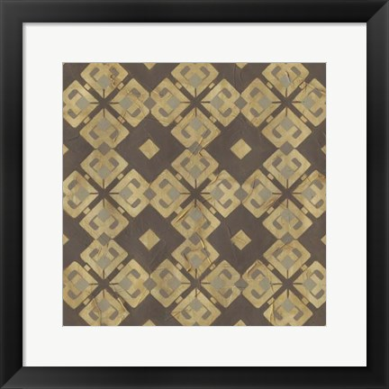 Framed Golden Trellis VI Print
