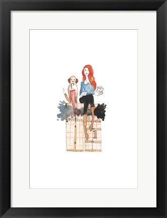 Framed London or Bust Illo Print