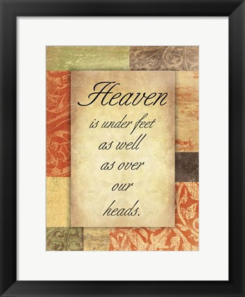 Framed Heaven Print