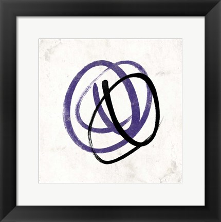Framed Abstract Circle Mate Purple Print