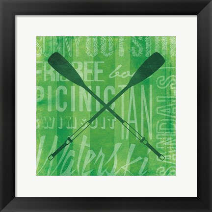 Framed Summer Bright Oars Print