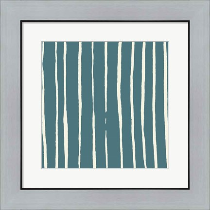 Framed Lined Pattern Print