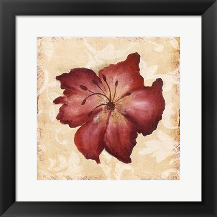 Framed Red Flower Print