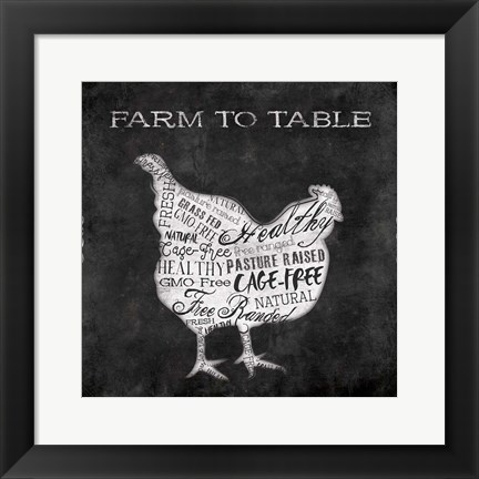 Framed Farm To Chicken Print