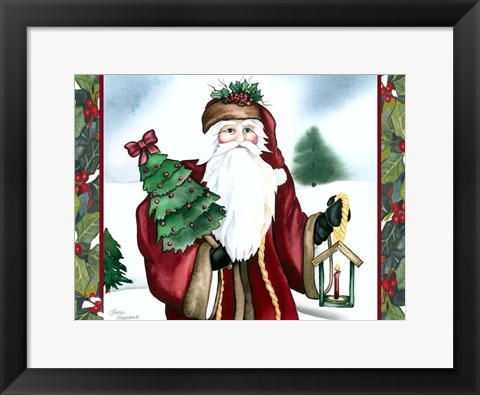 Framed Father Christmas Print