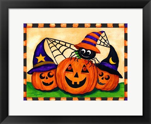 Framed Happy Pumpkins Print