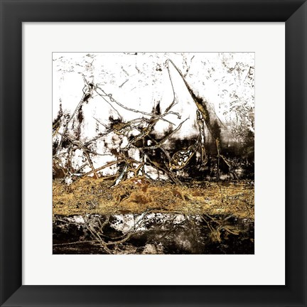 Framed Ink Gold Metalico 1 Print