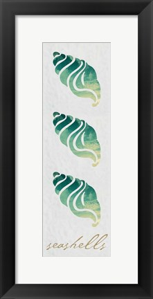 Framed Seashells Panel Print