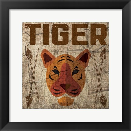 Framed Safari Set 4 Tiger Print