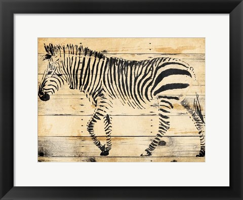 Framed Zebra Wood Print