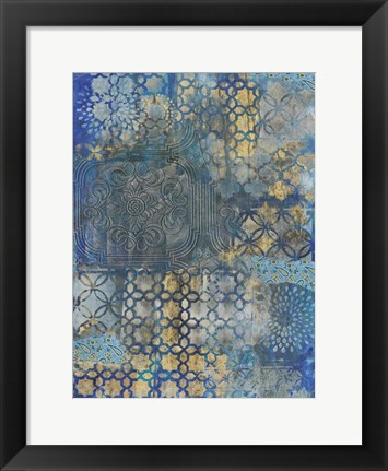 Framed Ornate Azul B2 Print