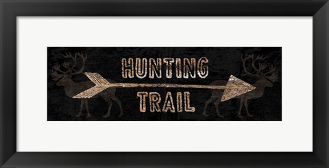 Framed Hunting Trail Print