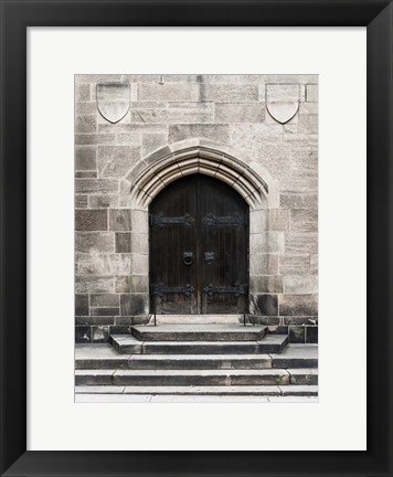 Framed Brown Door Print