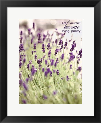 Framed Lavender 2 Quote Print