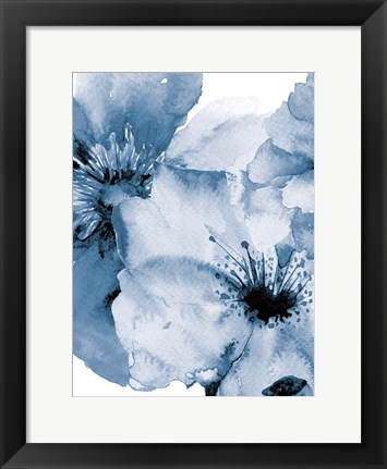 Framed Raining Flowers 2 Print