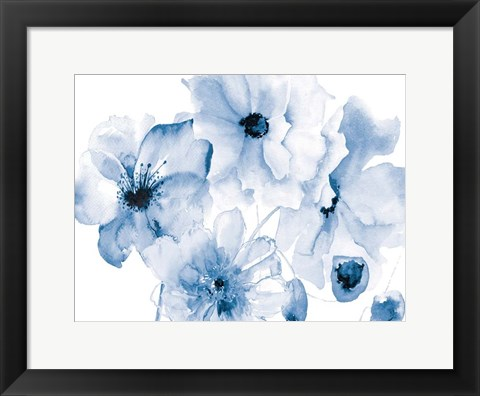 Framed Flowering Blue Print