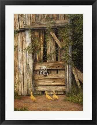 Framed Farmyard Friends Print