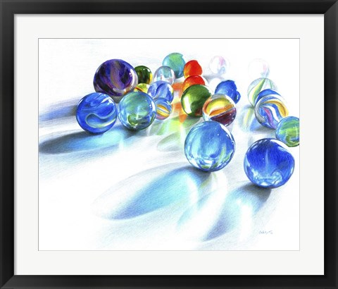 Framed Blue Marble Reflection Print