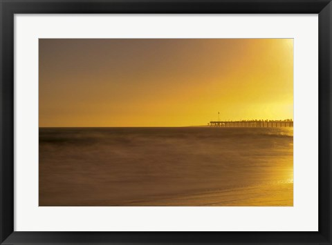 Framed Pier Orange Print
