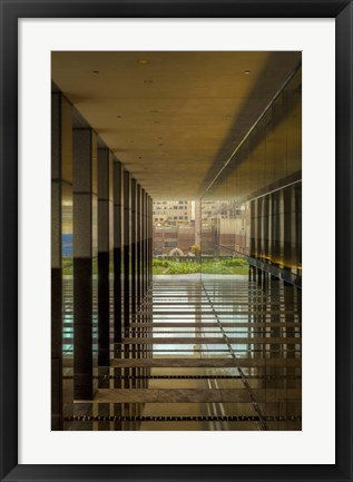 Framed Brick View Downtown Print