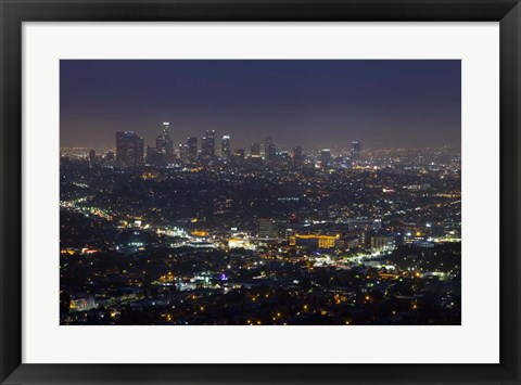 Framed LA Skyline Print