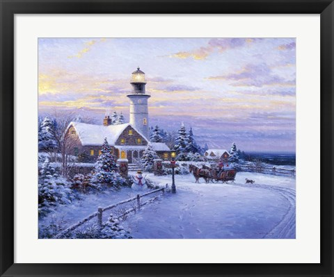 Framed Lighthouse 3 Print