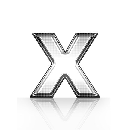 Framed Layers Of Black And White Print