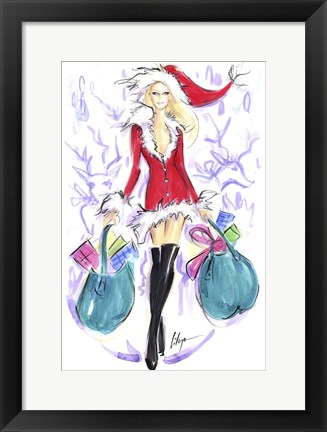 Framed Naughty and Nice Print