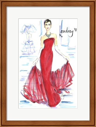Framed Audrey Awesomeness Print