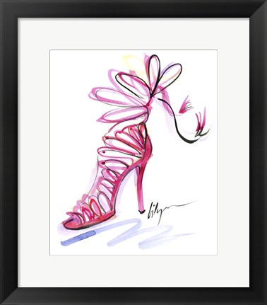 Framed Pink Up Your Heels Print