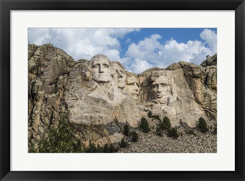 Framed Mount Rushmore In Day Print