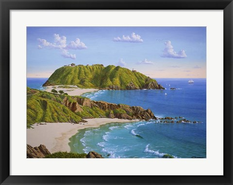 Framed Point Sur, CA Print