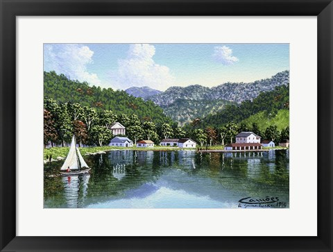 Framed North Carolina Print