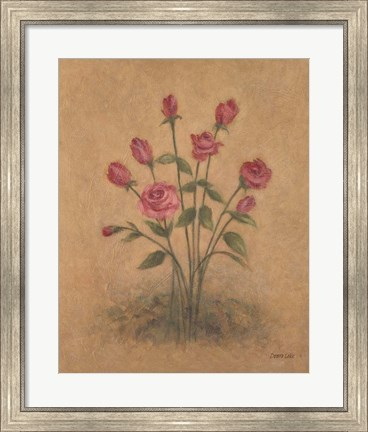 Framed Bunch of Red Roses Print