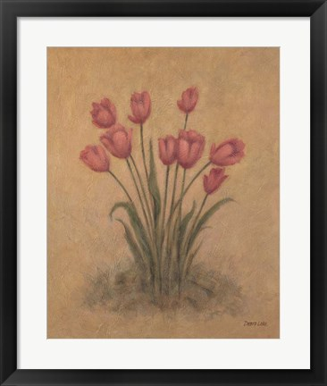 Framed Bunch of Red Tulips Print