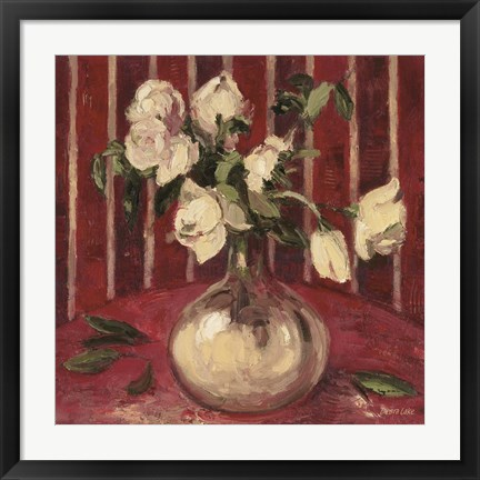 Framed Fading Peonies Print