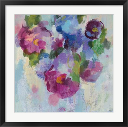 Framed Pink and Blue III Print