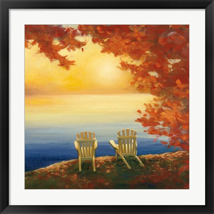 Framed Autumn Glow II Print