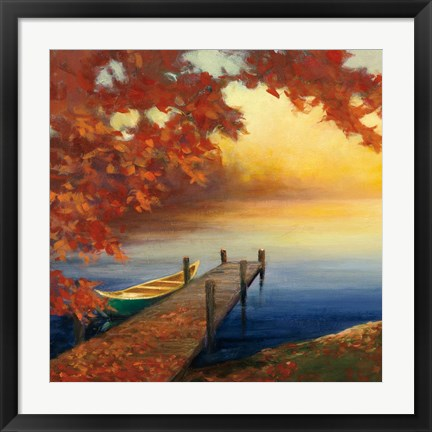 Framed Autumn Glow III Print
