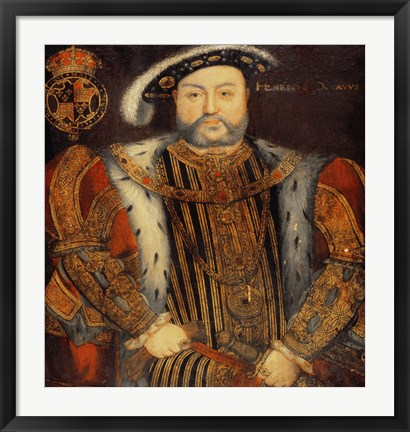 Framed Portrait of Henry VIII Print