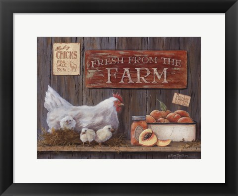 Framed Fresh From The Farm Print