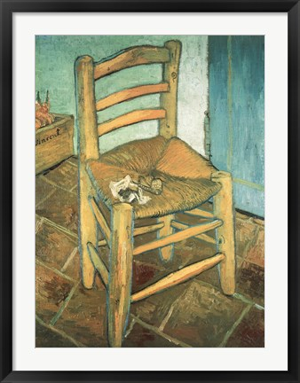 Framed Vincent's Chair Print