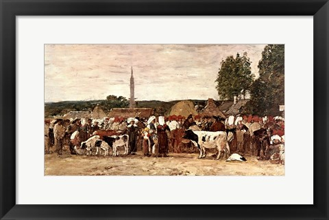 Framed Fair In Brittany Print